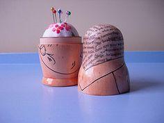 Up-cycled matryoshka dolls - I adore this idea! Thanks, Lori! #Crafty