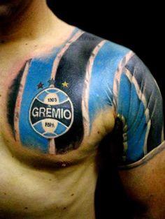 tatuagem do grêmio