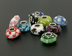 10 Single Core Lampwork Glass Beads Asst.. Starting at $6 on Tophatter.com!