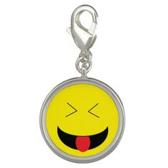 Wear your favorite emoji with these Emoji charms! Sterling silver-plate and UV Resistant and waterproof.