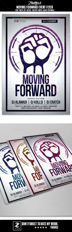Moving Forward Event Flyer