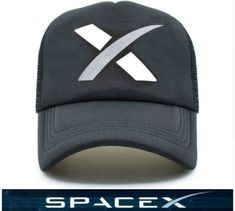 5bb89be6fa9 FREE SHIPPING - SPACEX ELON MUSK BLACK SPACE HAT NASA ROCKET CAPShow your  support for our