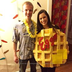 Cool San Diego (Sandy Eggo) Couples Costume... Coolest Halloween Costume Contest