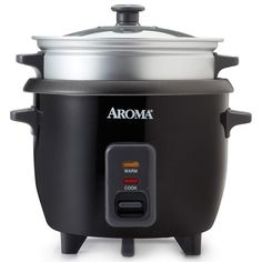 Make between two and six cups of perfectly cooked rice with the help of the Aroma Rice Cooker with Steamer . This rice maker cooks and. Aroma Rice Cooker, Rice Cooker Steamer, Vancouver, Steamed Meat, Rice Maker, Electric Cooker, White Pot, Steamer Recipes, How To Cook Rice