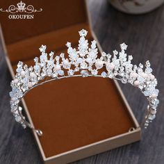 Workmanship In Intelligent Black Crystals Bling Bling Womens Tiaras And Crown Flowers Shape Rhinestones Vintage Hair Headbands Bridal Hair Accessories Exquisite