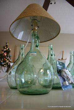 Pondered Primed Perfected: Glass Wine Bottles Lamps