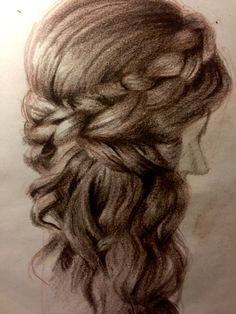 #pencil #pencils #braid #hair #capelli #matita #disegno #treccia