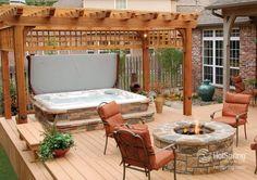 Outdoor Hot Tub Designs   Outdoor & Indoor Hot Tub & Ideas   Pinterest