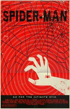 "Spider-Man (from ""Creative & Alternative Marvel Comic Movie Posters"") | Via: Downgraf (#spiderman)"