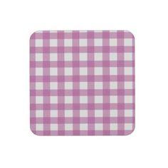 Pink Gingham Coasters