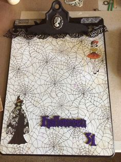 All Dressed Up Halloween Clipboard by JustMeAlteredArt on Etsy