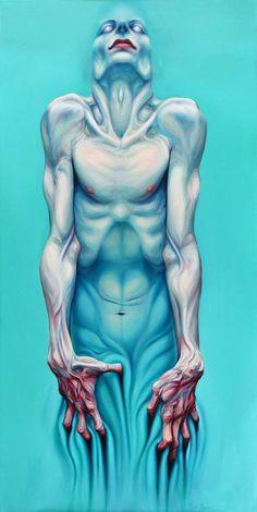 'Animus / Body & Spirit', oil on canvas, 160 X 80cm, 2015 by Milan Nenezic…