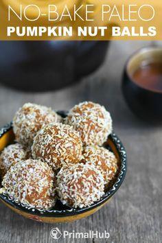 No Bake Paleo Pumpkin Nut Balls #paleo #Pumpkin #nuts #snacks