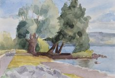 Anthony Lombardi Bolsena Lake 02 watercolour on paper 2016 26 x18 cm.
