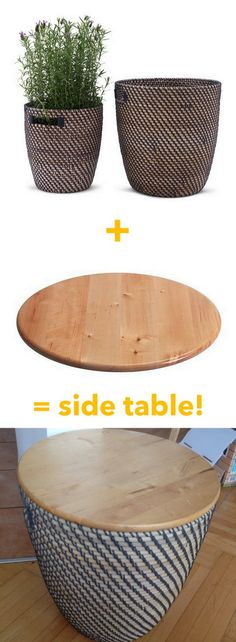 Make a side table with storage in the blink of an eye http://www.ikeahackers.net/2017/05/make-side-table-storage-blink-eye.html