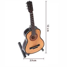 Amazon.com - WOGOD Miniature Guitar Wooden Instrument Model- Home Decor 、Christmas and Music Lovers Best Gift (MG-245) -