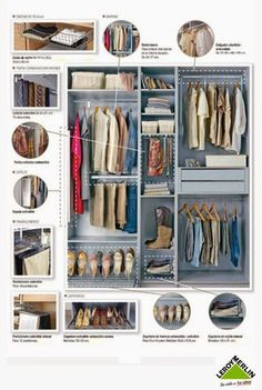 Almacenaje storage on pinterest office supplies - Ideas para organizar armarios ...
