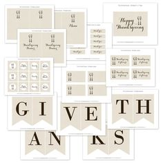 FREE printables for Thanksgiving. So beautiful!