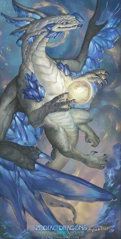 2017 Zodiac Dragons Calendar - Virgo Dragon by The-SixthLeafClover on DeviantArt