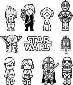 simple star wars coloring pages has