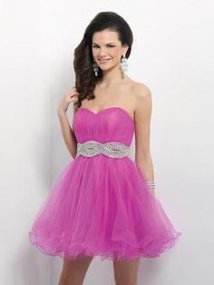 Sweetheart Short Pink Tulle A Line Cocktail Homecoming Dress