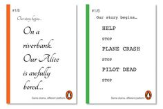 Print campaign to promote brand awareness of Penguin books.
