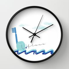 Buy Brush Floss Rinse by Dental Chic as a high quality Wall Clock. Worldwide shipping available at Society6.com. Just one of millions of products available.