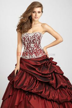 d96ab1df6 Taffeta Pick-Up Gown by Allure Quinceanera