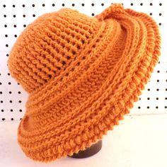 Desert Glaze Orange Crochet Hat Womens Hat Steampunk Hat Crochet Wide Brim Hat Women Orange Hat Winter Hat FRONTIER Wide Brim Hat 60.00 USD by #strawberrycouture on #Etsy - MUST SEE!