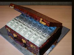 A creative cake....i wish money was edible !
