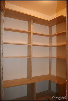 Once Upon A Cedar House How To Install L Shaped Pantry