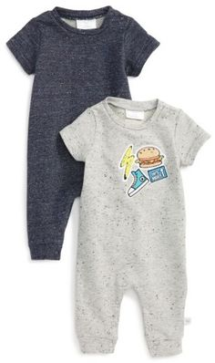 Infant Boy's Rosie Pope 2-Pack Rompers