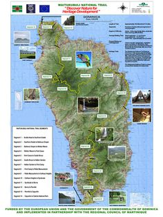 List of hiking trails in Dominica. Map of Waitukubuli Trail Map