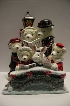 Bearly In Tune Cookie Jar by Christopher Radko