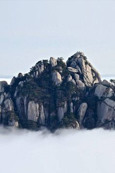 HuangShan (China) Peaking out of the clouds. Before Sunrise, China Travel, China Trip, Mountain Landscape, Adventure Is Out There, Landscape Photos, Pretty Pictures, Beijing, Shanghai