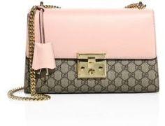 Gucci Medium Padlock GG Supreme Leather Shoulder bag Saks Fifth Avenue