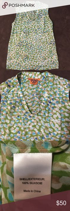 Tory Burch Silk Top Beautiful silk top from Tory Burch! Gently worn and shows no visible signs of wear. Tory Burch Tops