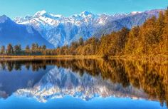 Lake Matheson... And proof that the postcard is indeed real #newzealand