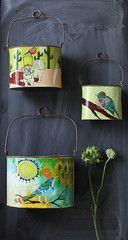 $34 three Tin Buckets Set – Create-ologie