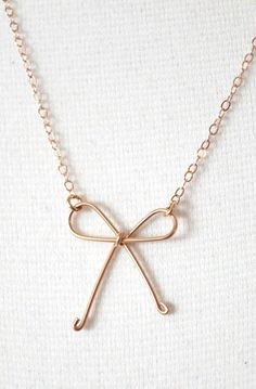 Tie the Knot Rose Gold Filled Necklace