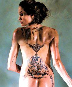 Angelina, new tattoos