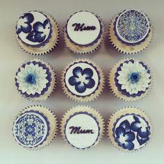 Blue China Cupcakes - Beanie's Bakery