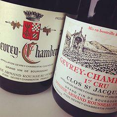 2012 Rousseau Gevrey-Chambertin & 1er Cru Clos St-Jacques #burgundy #france