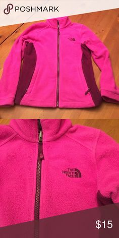 Girls small 7/8 north face Girls size small 7/8 fleece jacket super cute and comfy smoke free home North Face Jackets & Coats