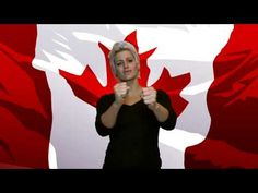 our Canadian national anthem in Canadian Sign Language (as in American Sign Language). Born and raised in Canada, I felt that our national anthem needed a. Sign Language For Kids, Asl Sign Language, American Sign Language, Backpacking Canada, Canada Travel, Visit Canada, Canada Day, Canadian National Anthem, All About Canada