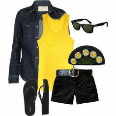 Şık yazlık kıyafet kombinasyonu