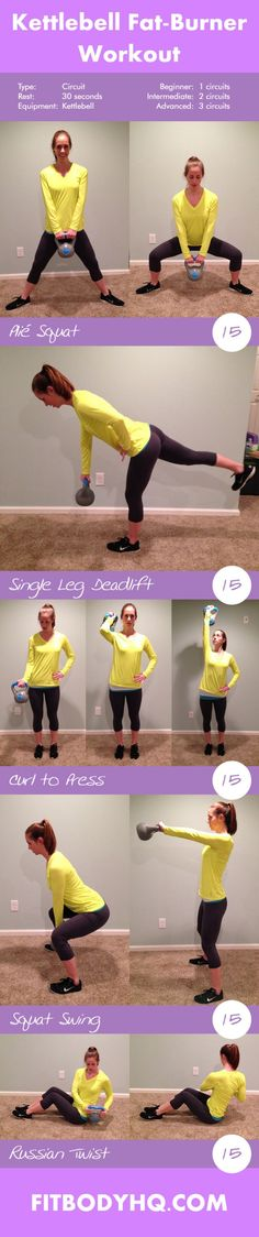 Kettlebell Fat-Burner Workout | FitBodyHQ