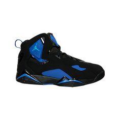Nike Men's Jordan True Flight Basketball Shoes ($110) ❤ liked on Polyvore featuring men's fashion, men's shoes, men's athletic shoes, mens black leather shoes, mens blue shoes, mens leather shoes and mens slipon shoes