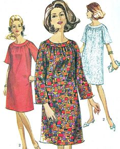 1960s Dress Pattern Simplicity 6755 Mod Yoked by paneenjerez, $12.00