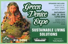 Green Venice Expo this Saturday! Find me at the Eco Genius Bar from 1-3pm.